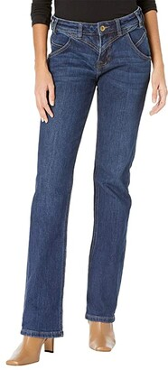 Rock and Roll Cowgirl Riding Bootcut in Dark Wash W7-7518