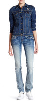 Miss Me Embroidered Straight Leg Jean