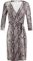 Diane von Furstenberg New Julian Two Printed Silk Wrap Dress