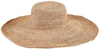 San Diego Hat Crochet Raffia Wide Brim Hat