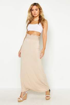 boohoo Petite Sheered Waist Maxi Skirt