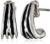 Zina Sterling Silver Waves Mini J Earrings
