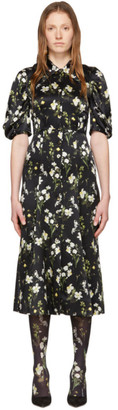 Erdem Black Silk Gisella Dress