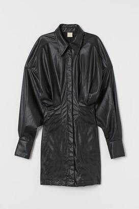 H&M Imitation leather dress