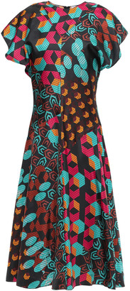 M Missoni Printed Silk-twill Midi Dress