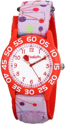 EWatchFactory Red Balloon Kids' W001884 Analog Display Analog Quartz Pink Watch