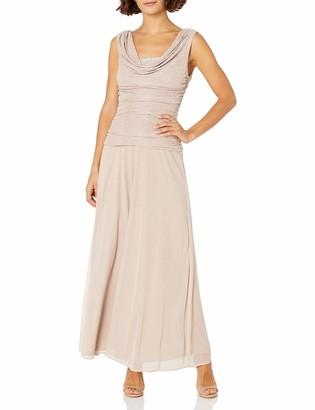 R & M Richards R&M Richards Women's Petite Rouched Drape Front Dress