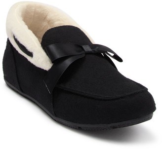 Vionic Shirley Suede Faux Fur Slipper - Wide Width Available