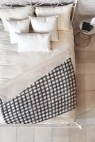 """Deny Designs Little Arrow Design Co Black Watercolor Buffalo Check Fleece Blanket - 60"""" x 50"""""""