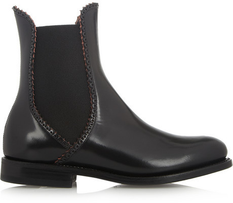 Alaia Leather Chelsea boots