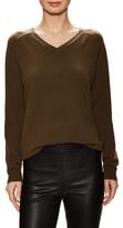 Vince Cashmere V-Neck Raglan Sweater