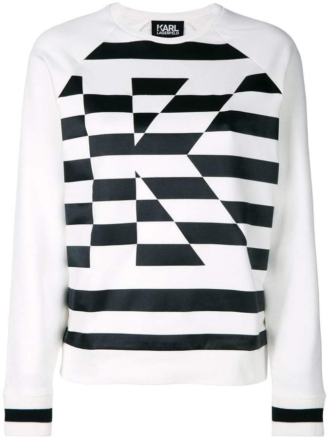 Karl Lagerfeld K striped sweatshirt