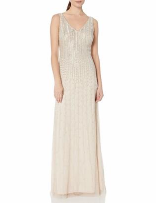 Aidan Mattox Aidan Women's Vneck Beaded Gown