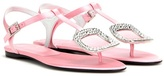 Roger Vivier Thong Chips embellished satin sandals