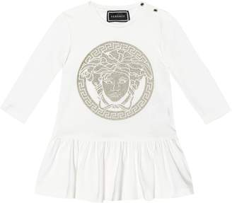 Versace Kids Baby stretch-cotton jersey dress