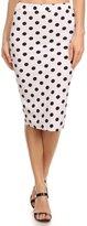 2LUV Women's Polka Dot Print Knee Length Pencil Skirt S (S170 )