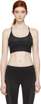 Versace Underwear Black Mesh Sports Bra