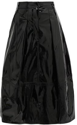 Tibi High-rise Pvc Midi Skirt - Black