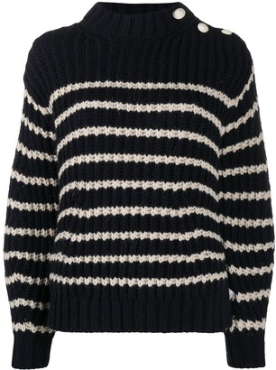 Zadig & Voltaire Striped Chunky Knit Jumper