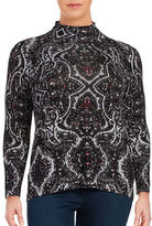 Context Plus Paisley Mockneck Top