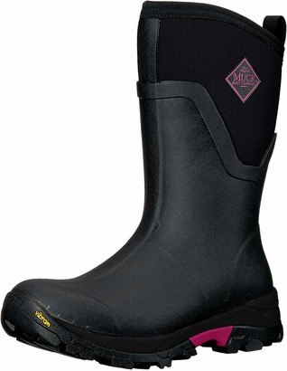 Muck Boot Women's Arctic Ice Mid Rubber Black/Pink Boots 8 US