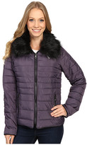 U.S. Polo Assn. Puffer Fashion Jacket with Fur Collar