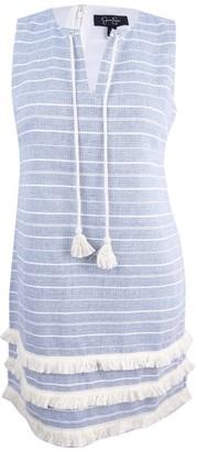 Jessica Simpson Women's Striped Tweed Shift Dress