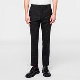 Paul Smith Men's Slim-Fit Black Multi-Colour Slub-Stripe Wool Trousers