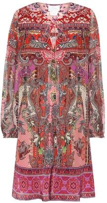 Camilla Printed silk minidress