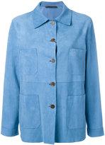 Simonetta Ravizza pocket detail jacket - women - Suede/Cupro - 42