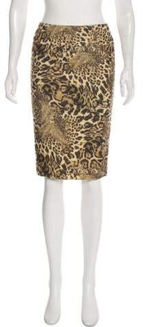148 Animal Print Knee-Length Skirt