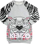 Kenzo Tiger Flocked Printed Cotton Dress