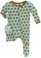 Kickee Pants Cookie Printed Footie