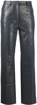 Sandro Cropped Leather Trousers