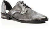 Freda Salvador Wit Metallic Lace Up d'Orsay Oxfords