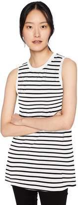 Amazon Brand - Daily Ritual Women's Jersey Muscle-Sleeve Swing Tunic