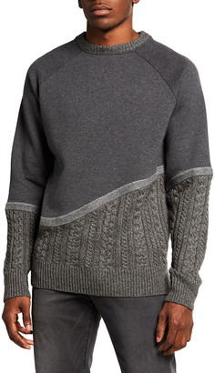Twenty Montreal Men's Felt Connected Terry Crew Sweater