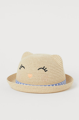 H&M Straw Hat with Ears