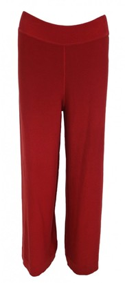 Sonia Rykiel Red Cotton Trousers