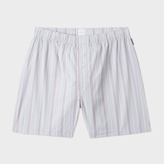 Paul Smith Men's Grey Signature Stripe Cotton Boxer Shorts