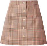 Paul & Joe Allumet Houndstooth Cotton Mini Skirt - Orange