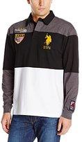 U.S. Polo Assn. Men's Jersey Color Block Rugby Polo Shirt