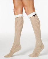 Hue Women's Open-Work Bow Knee Socks