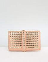 Missguided Studded Clutch Bag