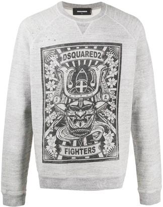 DSQUARED2 Fighters print sweatshirt