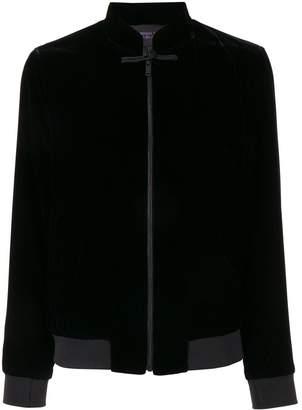 Shanghai Tang mandarin collar bomber jacket