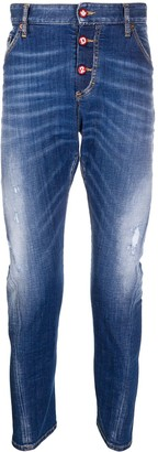 DSQUARED2 High Waisted Slim Jeans