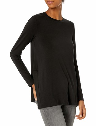 Daily Ritual Women's Long-Sleeve Split-Hem Tunic