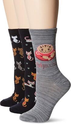 DAVCO 9-11 Womens Novelty Socks 3 Pair Pack Set