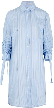 J.W.Anderson Blue Striped Cotton Shirt Dress